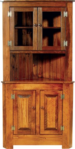 Extra large corner cabinet with glass