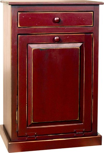 Awesome Trash Bin Cabinet With Drawer